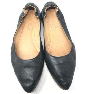 Vero Cuoio | Women's Black Leather Ballet Flats